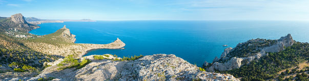 Coastline of Novyj Svit summer view (Crimea, Ukraine) Stock Photos