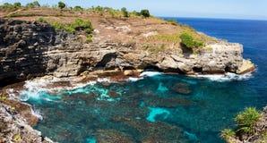 Coastline at Nusa Penida island Stock Photo