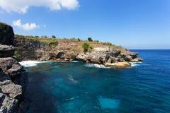 Coastline at Nusa Penida island Stock Images