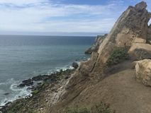 Coastline with ocean view and mountains. At Malibu California USA Royalty Free Stock Photo