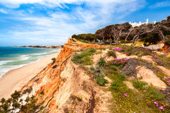 Coastline at Ohos de Aqua, Southern Portugal Royalty Free Stock Photography