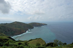 Coastline of one of the Azores islands Royalty Free Stock Images