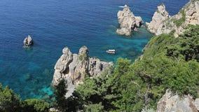 Coastline of Paleokastritsa bay , Corfu , Greece Stock Photography