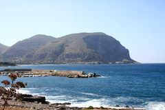 Coastline of Palermo, Italy. Unspoiled coastline of Palermo, Italy Stock Photos