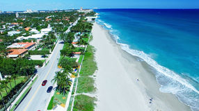 Coastline of Palm Beach, aerial view of Florida Stock Photos