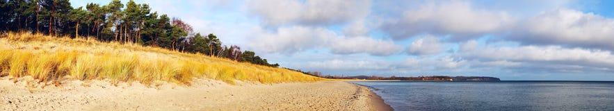 Coastline Panorama. Baltic Sea, Germany Royalty Free Stock Photo