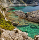 Coastline Paxos Island, Greece Travel Stock Image