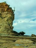 Coastline at Pebbly Beach NSW stock photography