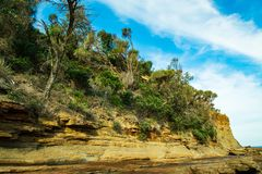 Coastline at Pebbly Beach NSW royalty free stock photos