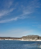 Coastline of Penobscot Bay in Maine. A small portion of the coastline of Penobscot Bay in Maine during the winter Royalty Free Stock Photo