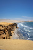 Coastline in Peru. Coastline in Paracas, Peru, South America stock photos