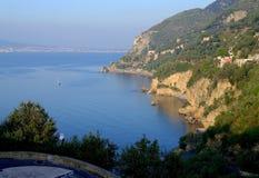 Coastline,cliff,view,vico equense,italy. Coastline. Piece of rocky coastline. Vico equense. Italy Stock Photo