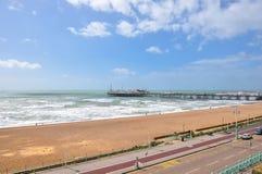 Coastline and pier in Brighton, East Sussex Stock Image
