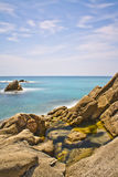 Coastline in Platja D'Aro Stock Image