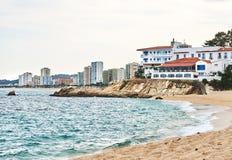 Coastline of Platja d'Aro. Spain Royalty Free Stock Image