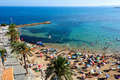 Coastline of Playa del Cura in Torrevieja city Royalty Free Stock Photos