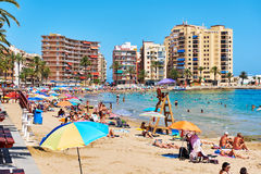 Coastline of Playa del Cura in Torrevieja city Royalty Free Stock Photography