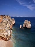 Coastline, Ponta da Piedade, Portugal. Stock Images