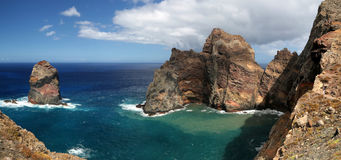 Coastline of Ponta de Sao Lourenco Madeira, Portugal Royalty Free Stock Image