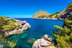 Coastline of Port de Sa Calobra Mallorca Spain. Coastline of Port de Sa Calobra, Mallorca, Balearic Islands, Spain Stock Photography
