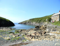 Coastline Port Quin UK. A small inlet from the sea into Port Quin just a walk away from Port Issac UK Royalty Free Stock Photo