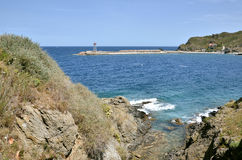 Coastline of Port-Vendres in France Royalty Free Stock Photography