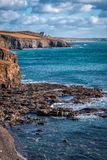 Coastline between porthleven and rinsey Stock Images