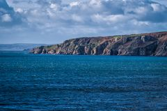 Coastline between porthleven and rinsey Stock Photos