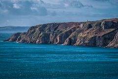 Coastline between porthleven and rinsey Royalty Free Stock Photos