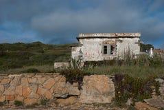 House at the coast stock photos