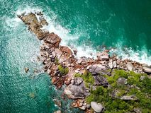 Coastline of Praslin stock photography