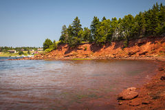 Coastline of Prince Edward Island Stock Images