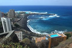 Puerta de la Cruz. The coastline in Puerta de la Cruz, Tenerife Stock Photography