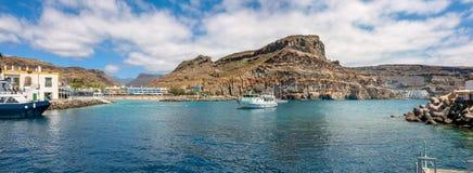 Coastline of Puerto de Mogan. Gran Canaria, Canary Islands Stock Photo