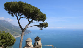 Coastline in Ravello, Amalfi coast, italy Stock Photography