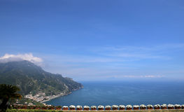 Coastline in Ravello, Amalfi coast, italy Royalty Free Stock Photography