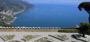 Coastline in Ravello, Amalfi coast, italy Royalty Free Stock Photos