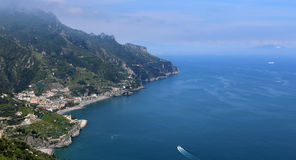 Coastline in Ravello, Amalfi coast, italy Stock Image