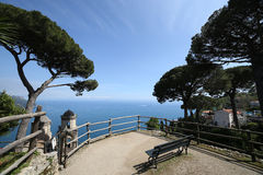 Coastline in Ravello, Amalfi coast, italy Royalty Free Stock Image