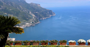 Coastline in Ravello, Amalfi coast, italy Stock Photo