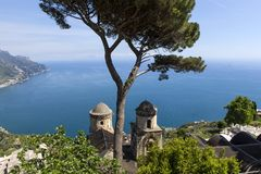 Coastline in Ravello, Amalfi coast, italy Stock Images