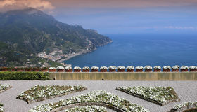 Coastline in Ravello, Amalfi coast, italy Royalty Free Stock Images
