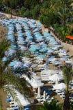 The coastline and relax on the beach Stock Photos