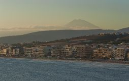 The coastline of Rethymnon Royalty Free Stock Images