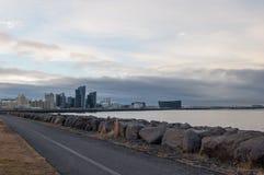 Coastline of Reykjavik Iceland Stock Photography