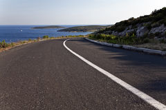 Coastline road in the adriatic Royalty Free Stock Image