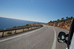 Coastline road Stock Photo
