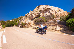 Coastline road in Corsica, France, Europe. Royalty Free Stock Images