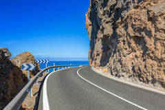 Coastline road on Gran Canaria island Stock Image