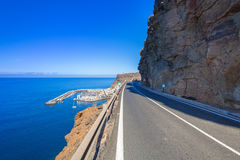 Coastline road on Gran Canaria island Stock Photos